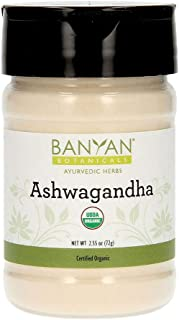 Banyan Botanicals Organic Ashwagandha Powder � Withania somnifera � for Healthy Adrenals & Immune System, Stress Relief, Strength, Mood & More* � Spice Jar � Non-GMO Sustainably Sourced Vegan