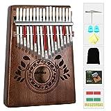 UNOKKI Kalimba 17 Keys Thumb Piano with Study Instruction and Tune Hammer, Portable...