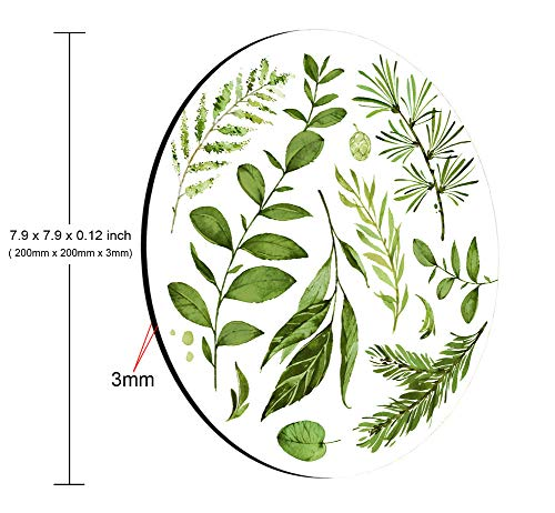 Smooffly Circular Mouse pad, Watercolor Leaves Mousepad, Wild Leaf Mouse pad, Round Mouse pad, Office Decor, Coworker Gift, Gift for Friend, Desk Accessories Photo #5