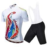 Gramke Maillot Ciclismo Corto De Verano para Hombre, Transpirable y Que Absorbe El Sudor,Secado Rápido,Mountain Bike/MTB Maillots