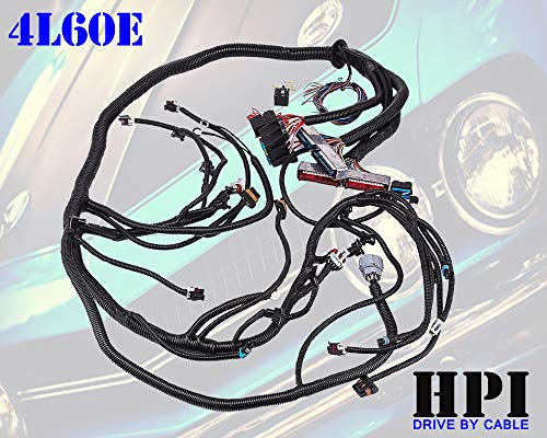 HPI 97-06 LS1 STANDALONE WIRE HARNESS 4.8 5.3 6.0 VORTEC w/60A RELAY (4L60E)(DRIVE BY CABLE) (RED/BLUE PCM) & EV1 FUEL INJECTOR CONNECTORS, msg us if multec/delphi or ev6 needed) (4L60E)