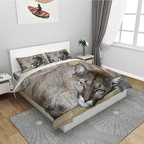 Bettbezug 3Teilig -Krokodil220*240Cm- Microfaser Wende Bettwäsche Sets Mit 1X Bettbezug + 2 X Kissenbezug 80X80 cm