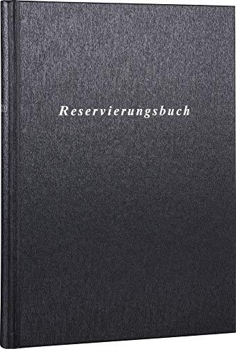 2020 Reservierungsbuch A4 1 Seite = 1 Tag, 210 x 297 mm (Metallic-schwarz Tango-Einband)