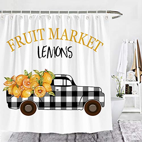 Buffalo Check Plaid Truck with Lemons