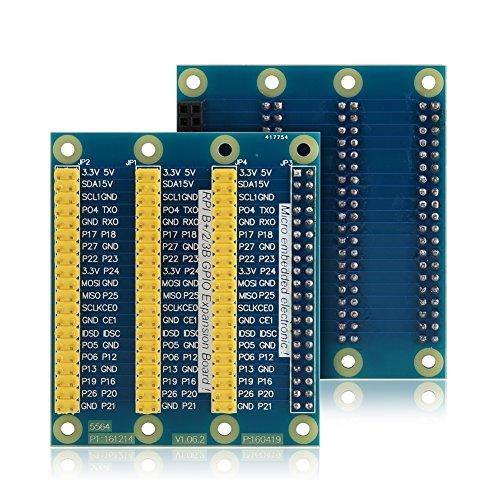 Richer-R GPIO Extension Board, GPIO Erweiterung Extension Board 1 zu 3 Port 40-Pin Multifunktion Interface Module Breadboard Kit,Kompatibel mit Raspberry Pi 2 Modell B