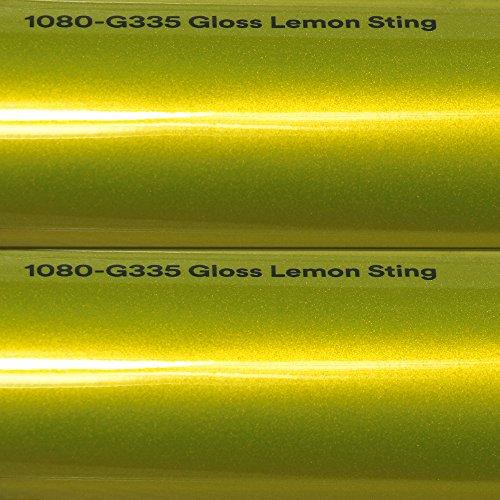 20,72€/m² 3M Autofolie Scotchprint Wrap Film 1080 gloss G335 lemon sting gegossene Glanz Profi Folie 152cm breit BLASENFREI mit Luftkanäle