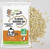 [Ma] bio-épicerie | Flocons d'avoine – petits BIO | 2,9 Kg | Sachet vrac | Certifié biologique | Riche en fibres et source de protéines
