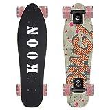 KO-ON Skateboards 22 Inch Complete Mini Cruiser Skateboard for Beginner Boys and Girls (Bang)