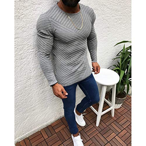 OEWFM Hoodie warme Kleidung Acryl Pullover Männer Langarm Pullover Outwear Mann O Hals Pullover Tops Slim Fit Strickbekleidung-XL