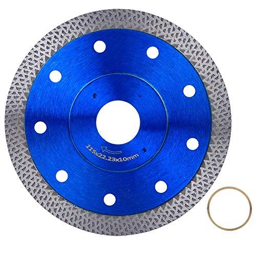Hojas de sierra de diamante Corte en seco y húmedo Uso general Kit de reemplazo de rueda de corte de sierra eléctrica con tres juegos para incrustar baldosas de porcelana Mármoles de granito(115mm)