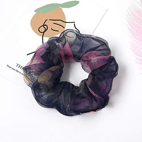 PLI Mesh Meisje Scrunchie Elastische Haarbanden Bloemen Nieuwe Vrouwen Meisjes Haaraccessoires Houder Haarbanden Touw