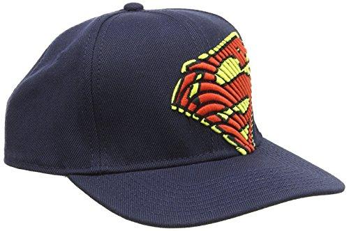 DC COMICS SUPERMAN - Casquette de Baseball Homme Iconic Red/Yellow Logo - Noir (Black) - Taille unique