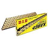 D.I.D(大同工業)バイク用チェーン カシメジョイント付属 428VX-132ZB G&G(ゴールド) X-リング 二輪 オートバイ用