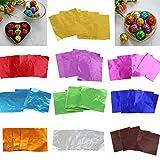 200pcs Alufolie Folie Packung Wrapper für Schokolade Backen Party Süßigkeit Schokolade Am Stiel Wrapper - Rosa