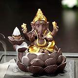 Backflow, Bruciatore Di Incenso per la Casa, Recipiente con 10 Incenso, Bruciatore Incenso Porta Incenso Bruciatore del Drago in Ceramica Art Craft Handmade, Thai Elefante Incenso