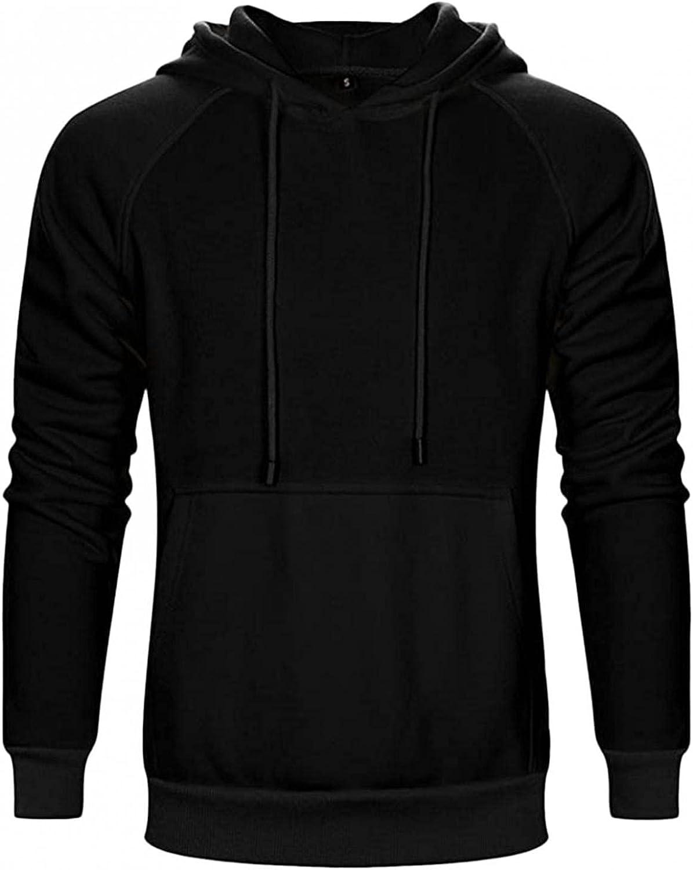 Burband Mens Fashion Hoodies Pullover Sweatshirts Big and Tall Casual Long Sleeve Fleece Drawstring Stretch Muscle Tops