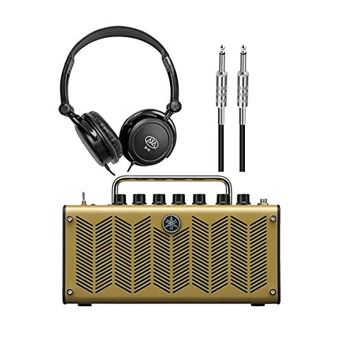 Yamaha THR5A Desktop Modeling Acou. Guitar Amp w/AxcessAbles Stereo Headphones and Instrument Cable