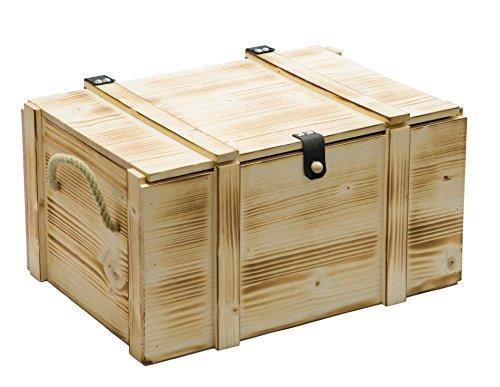 Kistenkolli Altes Land Weinkiste 6er geflammt inkl. Holzwolle/Holzkiste/Geschenkbox/Aufbewahrungsbox/Überraschungskiste/Weinbox/Hochzeitskiste (6er Weinbox)