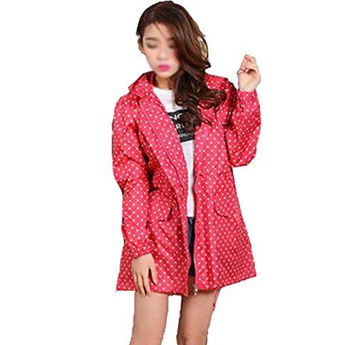 Regenmantel Lady Walking wasserdicht atmungsaktiv Poncho 60 * 77 * 122cm Vier Farben zur Auswahl (Farbe : D)