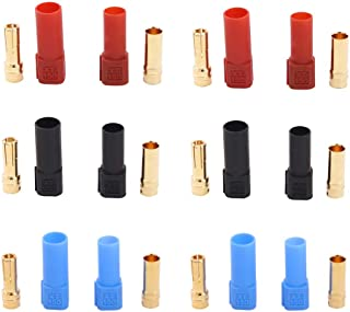 BDHI 6 Pairs XT150 6mm Large Current Motor Bullet Connector Adapter Plug Set Male Female 150 High Rated Amps(B122-6)