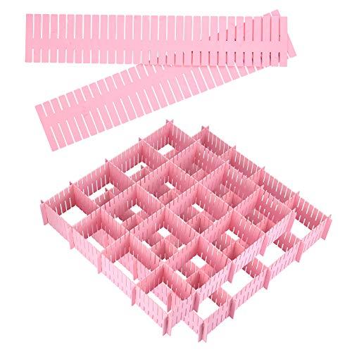 juehu Set de 20 Organizador de Cajones Ajustable Organizador de Cajones Separadores Divisores de cajones de rejilla ajustables Separador de Armario de Plástico para Sujetador, Calcetines y Accesorios