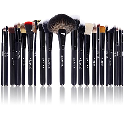 SHANY Pro Signature Brush Set 24 Pieces Handmade Natural/Synthetic Bristle with Wooden Handle, The Masterpiece by SHANY Cosmetics