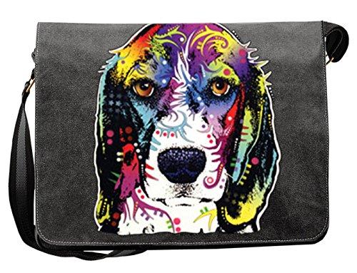 Hondenmotief schoudertas voor hondenhouder met hondentas canvas beagle hond hondenbezitter hondenhouder dog hond artikel dog hondenvriend