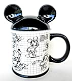 Sketch Book Disney Mickey Mouse Mug with Ear Top Cover Cup NEW RARE 17 oz