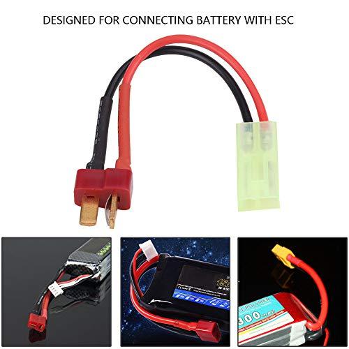 T Stecker männlich Kompatibel mit Buchse Adapter, 18AGW Silikon Kabel RC Zubehör
