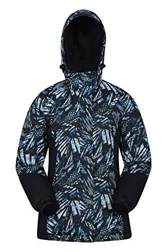 Mountain Warehouse Veste de Ski Dawn Femme - Résistante à la Neige, Chaude, Manteau de Ski à Doublure Polaire, Capuche, Poignets et Bordure Ajustables - Idéal en Hiver Carbone 38