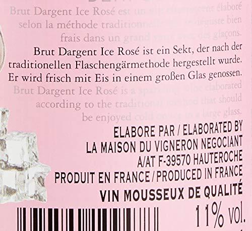 Brut Dargent Ice Rosé Méthode Traditionnelle HalbTrocken Sekt (1 x 0.75 L) - 4