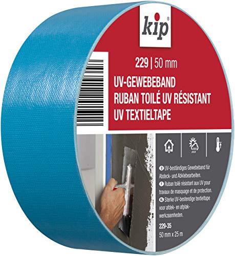 Kip Tape 229-35 Gewebeband – UV-beständiges, breites Gewebe-Klebeband aus PE für raue Untergründe – Panzertape für den Gebrauch drinnen und draußen – 50mm x 25m
