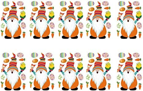 Shan S Easter Gnome Patches Iron Heat Transfer Sticker Bunny Eggs Elf Heat Transfer Decals Cute product image