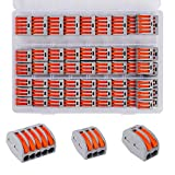 Conectores Eléctricos Rapidos Estancos Palanca Tuerca Cable Conector Kit 2/3/5 Puerto Conectores de Cable Compactos 60 Pcs