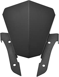 Amazicha Black Aluminum Windshield Windscreen Compatible for Yamaha FZ07 FZ-07 2013 2014 2015 2016 2017