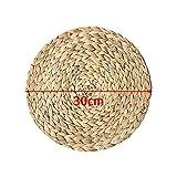 Weave Platzsets, Strohgeflecht, Wasserhyazinthe Weave Platzsets, Untersetzer, Küchenutensilien, Tischsets, 4 Packungen - 2