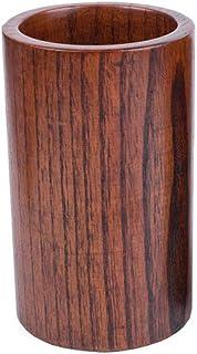 HTTBT Wooden Pen Holder, Durable Hardwood Table Pen Holder/Office Storage Tube, Desk Tidy Organiser 8BT88 (Size : 8.8 * 15cm)