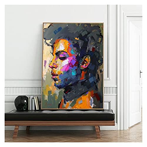 CBYLDDD Moderno Abstracto Retrato Pósters e Impresiones Arte de la Pared Pintura Príncipe Rogers Nelson Fotos for la Sala de Estar Decoración de la casa 20x28 Sin Marco