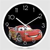 Décor horloges Horloge murale en bois silencieux Dessin animé Children Horloge mural Chrosage arabe Numérums Quartz Horloge en bois rond décoratif moderne Horloge murale vintage ( Color : Style 3 )