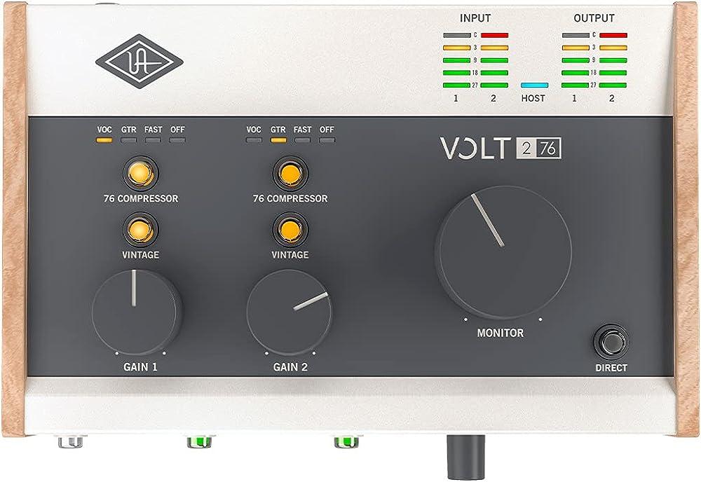 Universal Audio Volt 276:上面