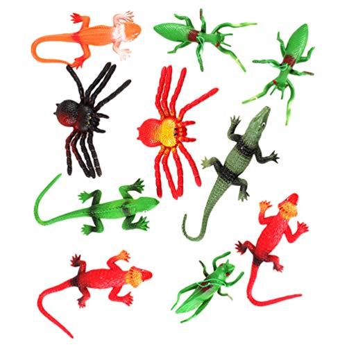 NOLITOY 10 Unidades de Miniinsectos Falsos Juguetes de Insectos para Niños Pequeños Regalo de Cumpleaños para Niños Golosinas de Halloween Bugs Insectos Relleno de Bolsas de Golosinas