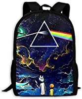 Gsixgoods Mochila Rick-Morty School Backpack Fashion Cartoon School Bags Bookbag for Kids Boys and Girls