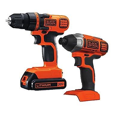 Black & Decker 20V MAX Drill/Driver Impact Combo Kit