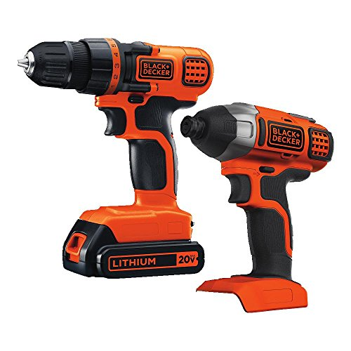BLACK+DECKER 20V MAX Cordless Drill Combo Kit (BD2KITCDDI)