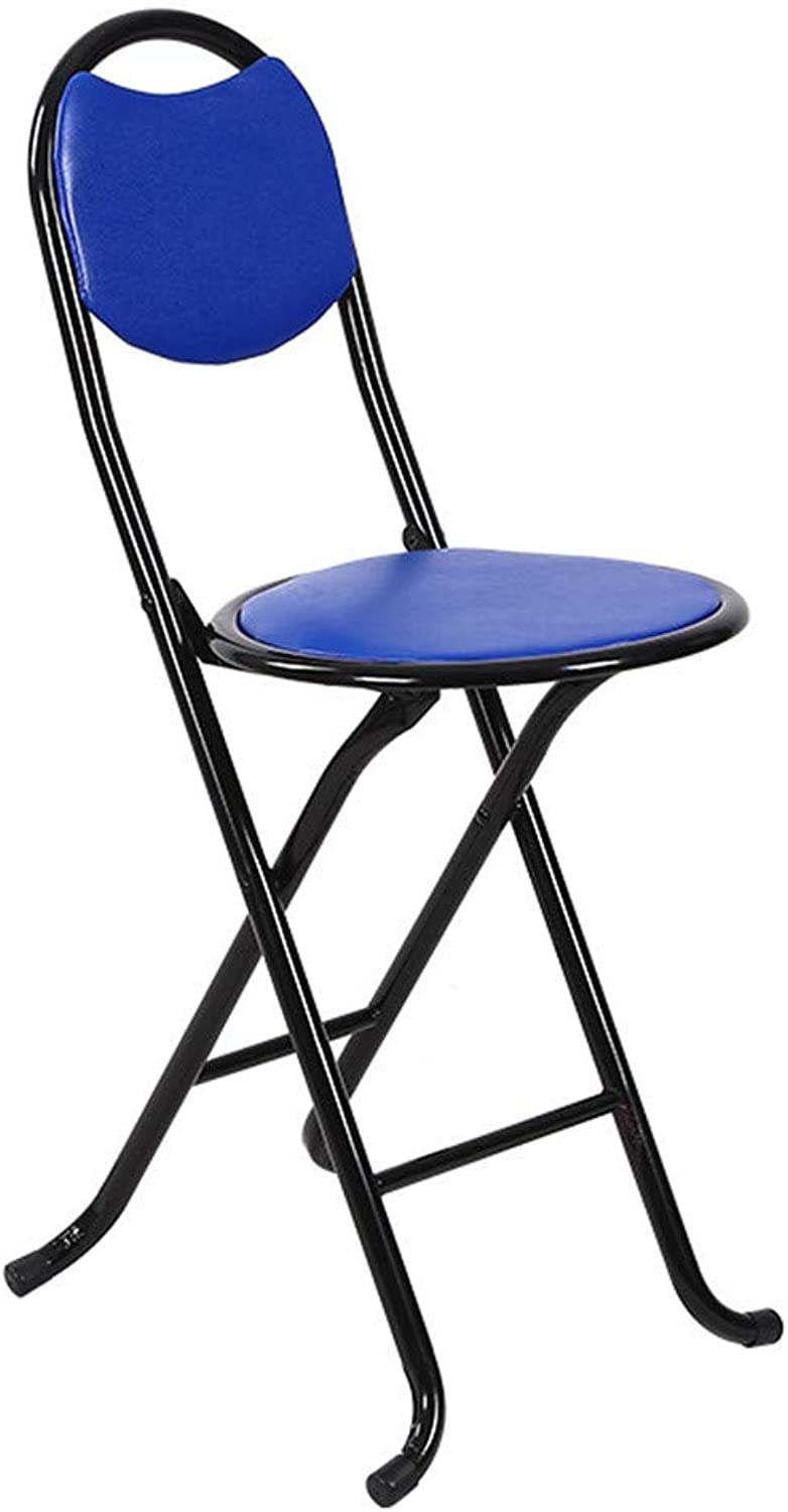Stretch Folding Cane Chair, Simple Home Adult Thick Round Simple Soft Face Chair Portable Old Man