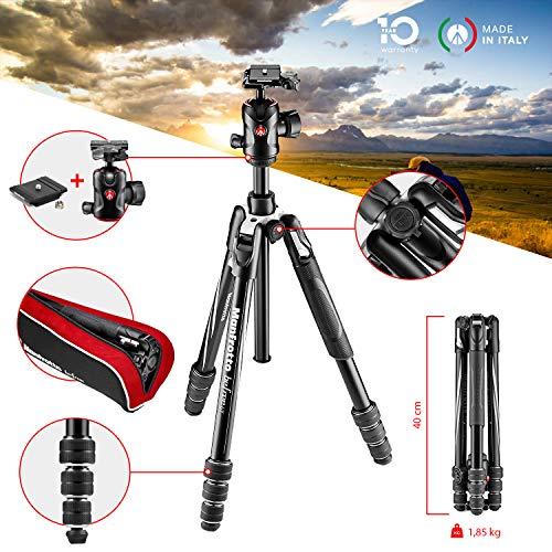Manfrotto MKBFRTA4GT-BH Befree Advanced GT Treppiede da Viaggio, Chiusura Twist M-Lock, Testa a Sfera, per Canon, Nikon, Sony, DSLR, CSC, Mirrorless,