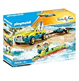 PLAYMOBIL Family Fun 70436 Coche de Playa con Canoa, A partir de 4 años