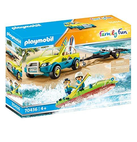 Playmobil Voiture avec canoë Multicolore 70436 de 4 Ans