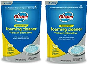Glisten DP06N-PB Garbage Disposer Foaming Cleaner, Lemon Scent, 2-Pack (8 Uses), Blue, 9 Ounce