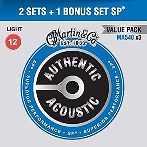 Authentic Acoustic SP - Sp, bronzo fosforoso, misura media Light (12-54)